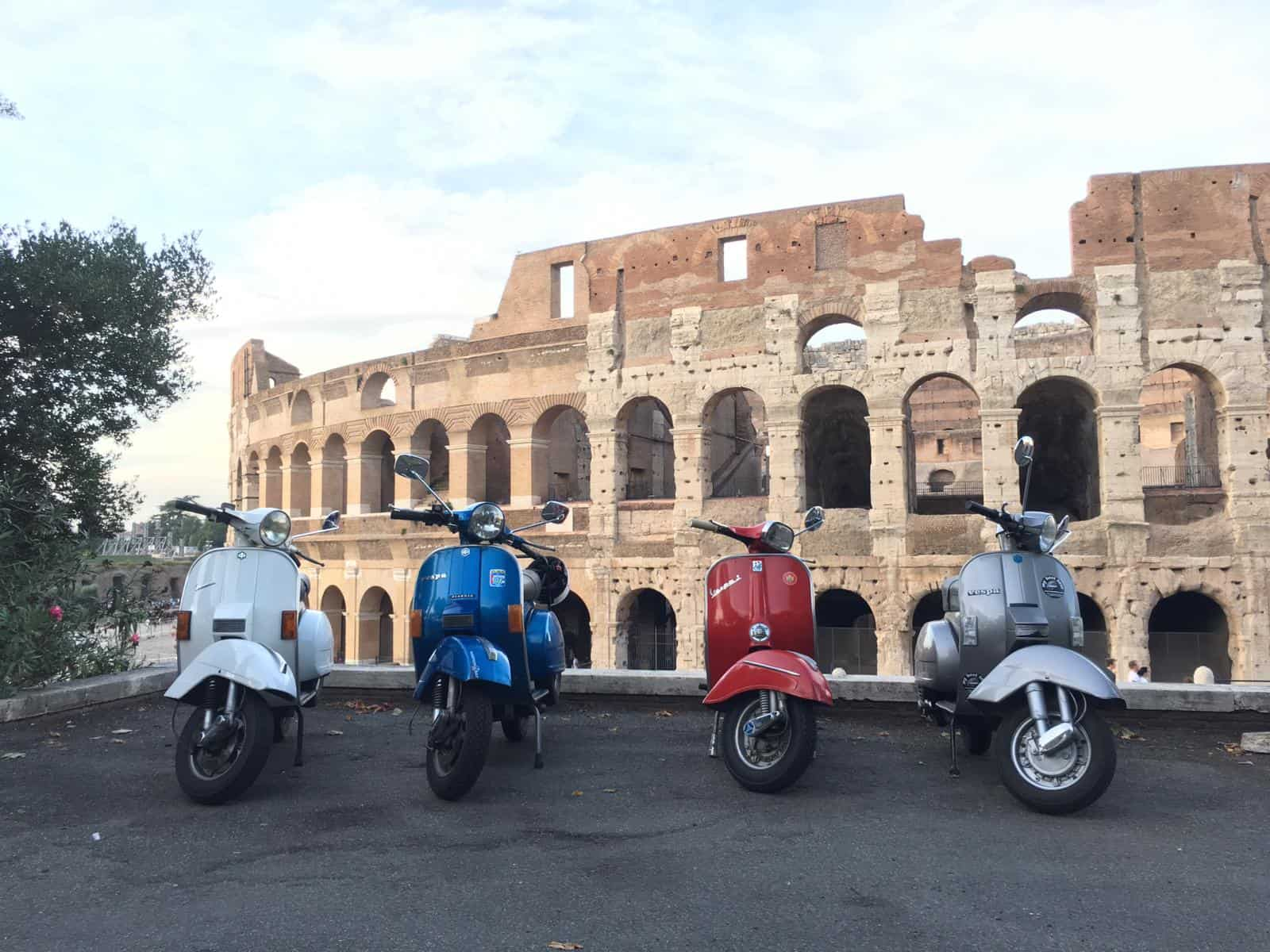 vespa food tour rome